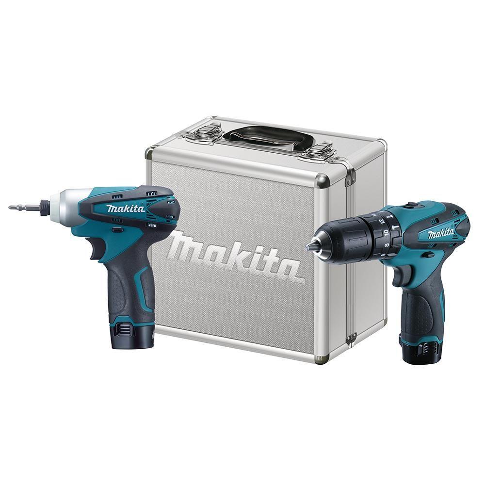 Combo Parafusadeira e Furadeira de Impacto Dk1493 Makita 12v Bateria