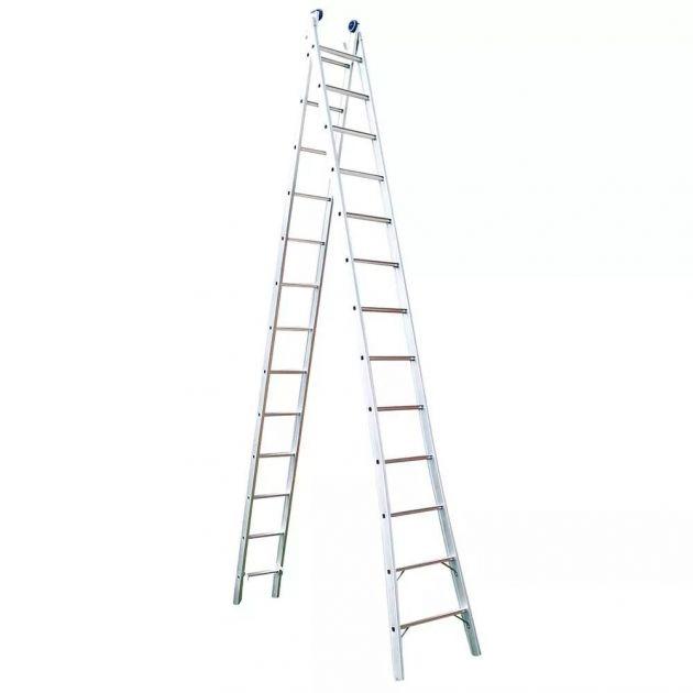 Escada Alumínio Extensivel 2 X 13 Uso Profissional - Mor