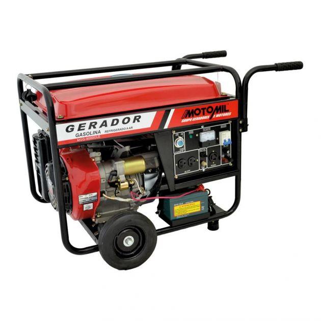 Gerador A Gasolina 4 Tempos Mgg 8000cle Monofásico Motomil