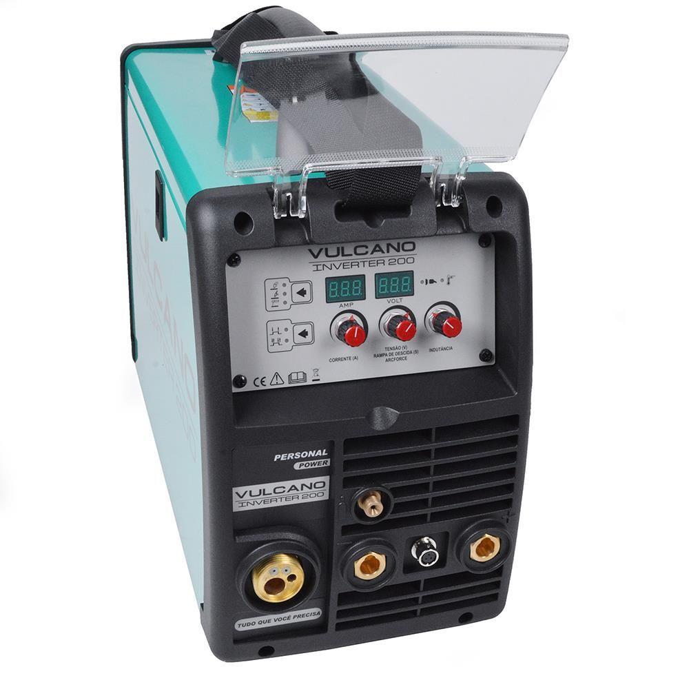 Máquina Inversor de Solda Vulcano Inverter 200 Multiprocesso 220v Balmer