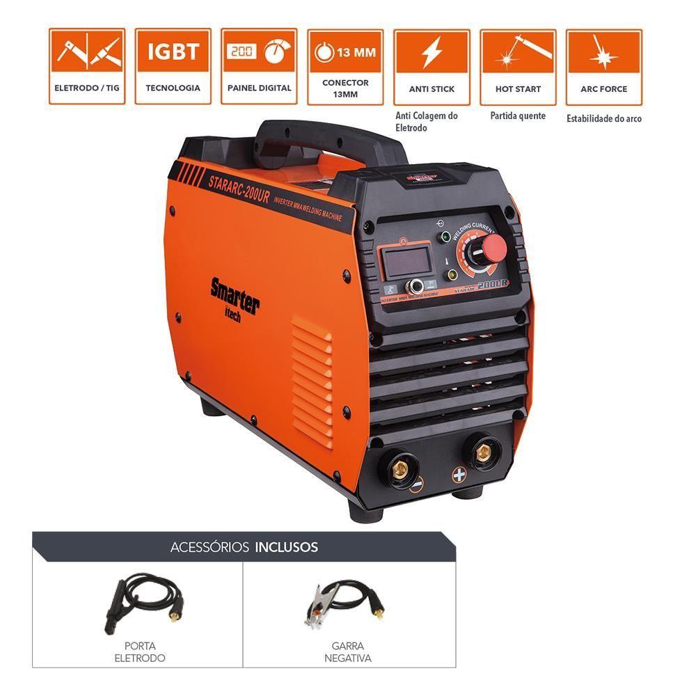 Máquina Inversor de Solda Eletrodo e Tig Stararc-200ur Smarter