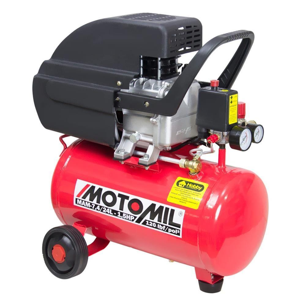 Motocompressor Mam 7,4 24 Litros Monofásico 127v Motomil