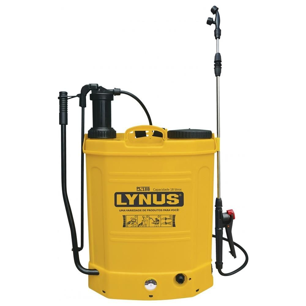 Pulverizador A Bateria Ou Manual Pl-18b 18  Litros Lynus